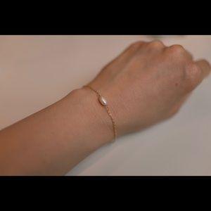 14k gold filled/freshwater pearl bracelet